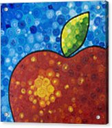 The Big Apple - Red Apple By Sharon Cummings Acrylic Print