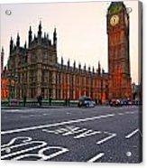 The Big Ben Bus Lane - London Acrylic Print