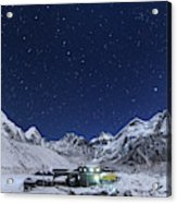 The Big Dipper Rise Above The Himalayas Acrylic Print