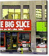 The Big Slice Pizzeria Downtown Toronto Restaurants Doner Kebob House Street Scene Painting Cspandau Acrylic Print