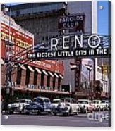Reno The Biggest Little City In The World 1940s Acrylic Print