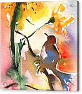 The Bird And The Flower 01 Acrylic Print