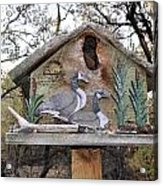 The Birdhouse Kingdom - The Geese A Swimming Acrylic Print