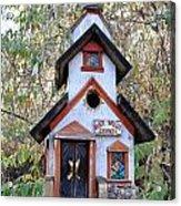 The Birdhouse Kingdom -the Pygmy Nuthatch Acrylic Print