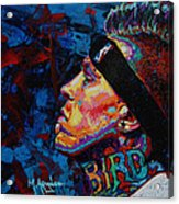 The Birdman Chris Andersen Acrylic Print by Maria Arango