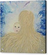 The Birth Of New Universal Love Named Tao  Acrylic Print by Judy M Watts-Rohanna