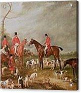 The Birton Hunt Acrylic Print by John E Ferneley