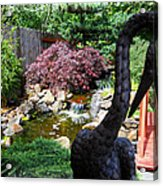 The Black Crane Acrylic Print