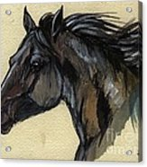 The Black Horse Acrylic Print