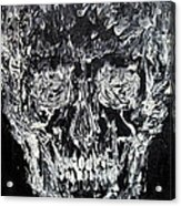 The Black Skull - Oil Portrait Acrylic Print