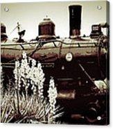 The Black Steam Engine Acrylic Print