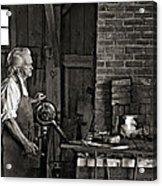 The Blacksmith 2 Monochrome Acrylic Print