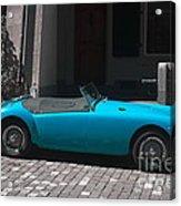 The Blue Car Acrylic Print