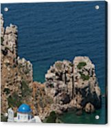 The Blue Domed Church At The Water S Acrylic Print