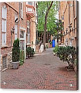 The Blue Door - Gaslight Court Chicago Old Town Acrylic Print by Christine Till