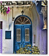 The Blue Door-santorini Acrylic Print