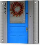 The Blue Door With Bittersweet Wreath Acrylic Print