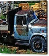 The Blue Farm Truck Acrylic Print