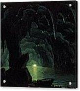 The Blue Grotto Acrylic Print by Albert Bierstadt