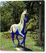 The Blue Horse Acrylic Print