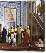 The Blue Mosque Acrylic Print by Jean Leon Gerome