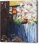 The Blue Paling - Backyard Of The Arthouse Buetzow Acrylic Print