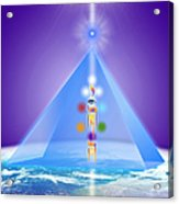 The Blue Pyramid Of Protection Acrylic Print
