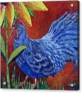 The Blue Rooster Acrylic Print
