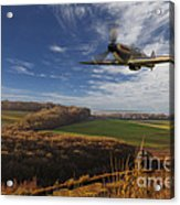 The Blue Skies Of Britain. Acrylic Print by Pete Reynolds
