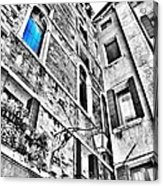 The Blue Window In Venice - Italy Acrylic Print