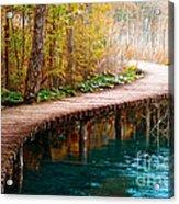 The Boardwalk Acrylic Print by Boon Mee