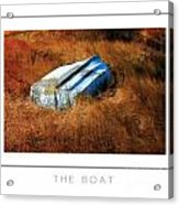 The Boat Poster Acrylic Print