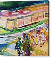 The Boat Trip, 1989 Wc On Paper Acrylic Print