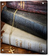 The Books Acrylic Print by David and Carol Kelly