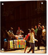 The Bookseller - New York City Street Scene - Street Vendor Acrylic Print
