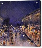 The Boulevard Montmartre At Night Acrylic Print