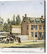 The Bowery, New York, 1783 Acrylic Print