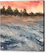 The Breaker At Sun Set  Acrylic Print
