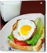 The Breakfast Little People On Food Acrylic Print