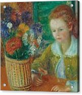 The Breakfast Porch Acrylic Print by William James Glackens