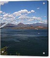 The Bridge At Roosevelt Lake Acrylic Print