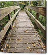 The Bridge At Rough Ridge Acrylic Print