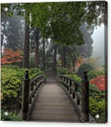 The Bridge In Japanese Garden Acrylic Print