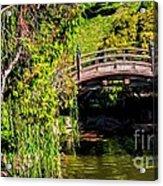 The Bridge In The Japanese Garden Acrylic Print