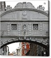 The Bridge Of Sighs Acrylic Print by Bishopston Fine Art