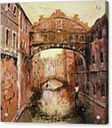 The Bridge Of Sighs Venice Italy Acrylic Print