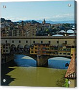 The Bridges Of Florence Italy Acrylic Print