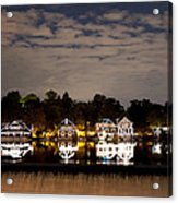 The Bright Lights Of Boathouse Row Acrylic Print