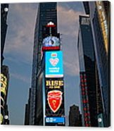 The Bright Lights Of Times Square Acrylic Print