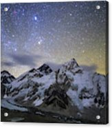 The Bright Stars Of Auriga And Taurus Acrylic Print